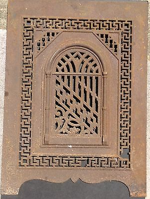 Antique Cast Iron Fireplace Summer Cover App. 27.5 x 20 Inches