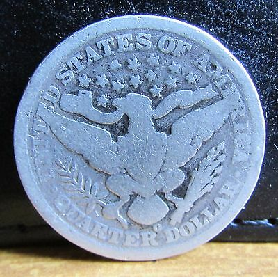 1895 Mint Mark O Silver USA United States of America Barber Quarter Dollar Coin