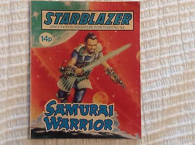 STARBLAZER No.53 SAMURAI WARRIOR - DC THOMSON 1981