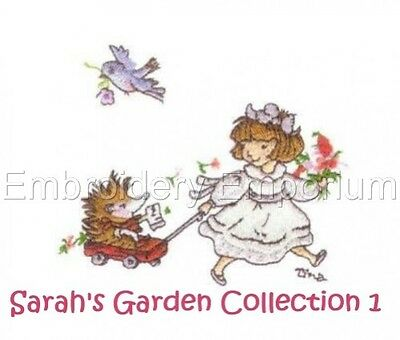 Sarah's Garden Collection 1 - Machine Embroidery Designs On Cd