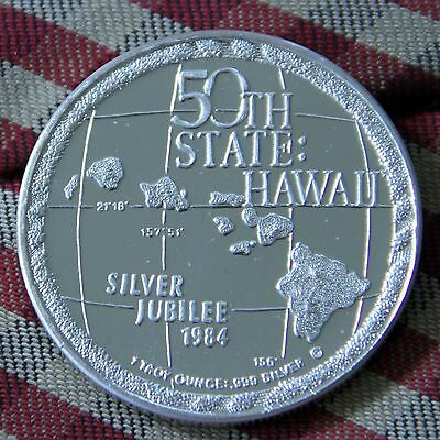 1984 50th State Hawaii A LIFETIME OF ALOHA 25 Years of Statehood 1oz .999 Silver