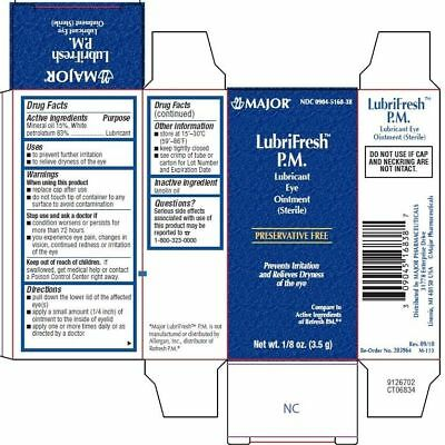 LubriFresh P.M.Major Sterile Eye Ointment  Protectant Humans Dogs Cats Horses