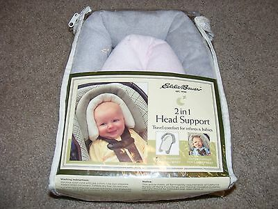 NEW Eddie Bauer 2 in 1 Baby Head Support Travel Comfort for Infants and Babies