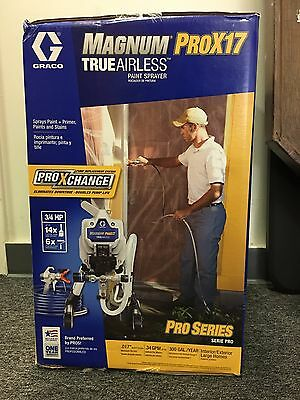 GRACO Magnum ProX17 Airless Paint Sprayer, Model 17G177 BRAND NEW FACTORY SEALED