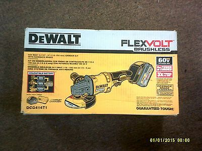 "Dewalt DCG414T1 60V Brushless Max 4-1/2"" - 6"" Grinder Kit NEW Flexvolt Hand Held"