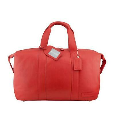 Manzoni Leather Overnighter Bag: Red<br><b>VALENTINE'S DAY COLLECTION