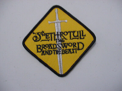 """set of 2 Jethro Tull """"Broadsword & The Beast"""" 1982 EMBROIDERED PATCH  ROCK BAND"""