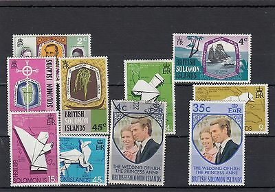British Solomon Islands. 10 -- Mm/used Qe2 Stamps On Stockcard