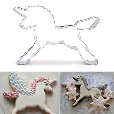 Silver Cookie-Mold Cute-Animal Unicorn Horse Shape Cookie Cutter Biscuit Cake
