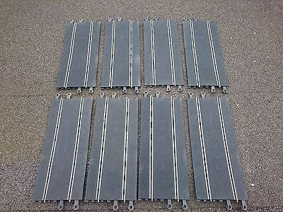 8 x SCALEXTRIC Classic Long Straight's (C160) - used - in need of a clean up