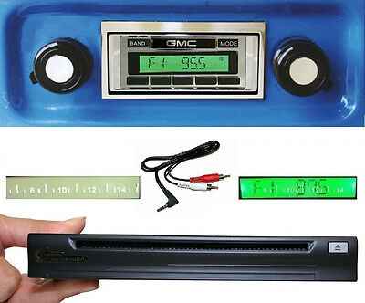 1967-1972 GMC Truck / Jimmy Radio + Single Disc CD Changer + USB  AUX Stereo 630