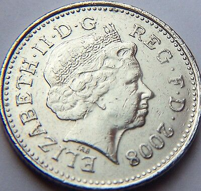 2008 The last Year of the older design 10p Ten pence coin