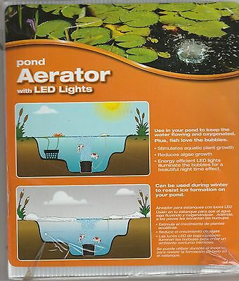 Total Pond Aerator with LED Lights #A16549 - BRAND NEW IN BOX