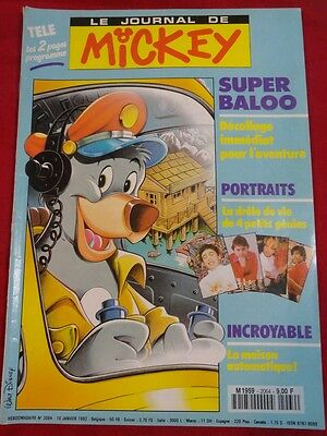 Walt Disney Livres Magazines Le Journal De Mickey N° 2064 Ij Super Baloo