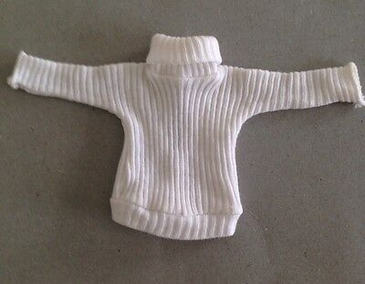 PEDIGREE SINDY  VINTAGE 1960's WHITE POLO NECK FROM 'Winter Sports' OUTFIT