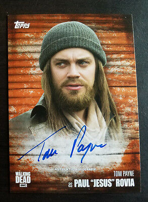 2017 Topps Walking Dead Season 6 Tom Payne Jesus Autograph Auto Rust 30/99