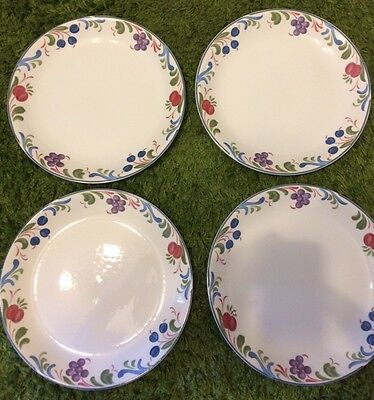 Poole Pottery 'Cranborne' Rimless Dinner Plates x 4