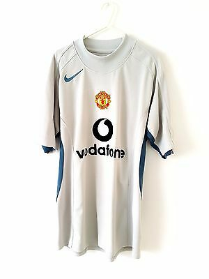 Manchester United Training Shirt. Medium. Nike. Grey Adults Man Utd Top Only Kit