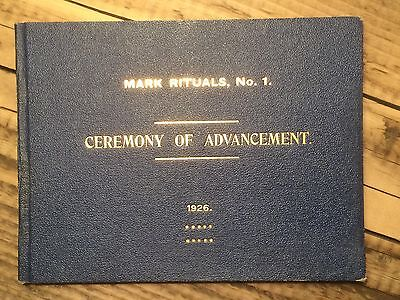 'Ceremony of Advancement with form of Opening and...' Masonic 1926 (RM397)