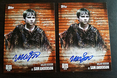 2017 Topps Walking Dead Season 6 Major Dodson Sam Autograph Auto Rust /99