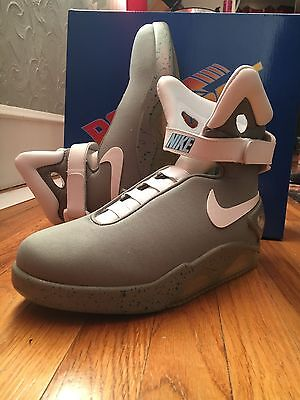 Back To The Future Nike Mag Replica / Custom Marty Mcfly Shoes Size 11