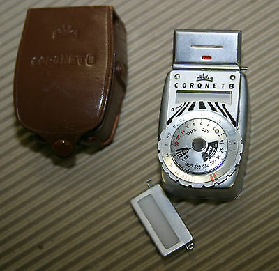 Vintage Walz Coronet B Light Meter, Leather Case, Diffuser Lens. Works nicely.
