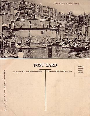 Post Card    Malta   Tish Market Marino
