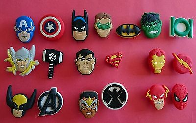 19 New Avengers jibbitz crocs shoe charms cake toppers Age Of Ultron Movie