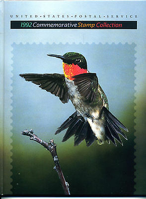 """USPS """"1992 Commemorative Stamp Collection"""" - complete w/mounted unused stamps"""
