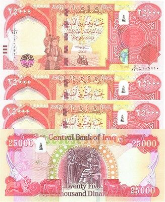 250,000 NEW IRAQI DINARS (10 x 25000) 2015 WITH NEW SECURITY FEATURES IQD-UNC!