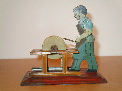 Arnold Antriebsmodell Scherenschleifer m. Figur 3 Version H: 10,5 cm Alter ?