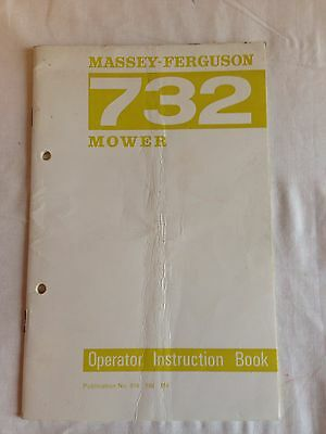 Massey Ferguson 732 Mower Operators Instruction Book Original Good