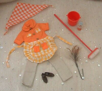 Vintage 60s Pedigree Sindy HOUSEWORK 12S25 clothes acc's  - NO DOLL