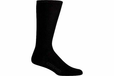 Icebreaker Men's Hike Light Crew Merino Sock Liner - Black
