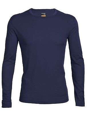 Icebreaker Men's Oasis Base Layer L/Sleeve Crewe Merino Shirt - Admiral Blue
