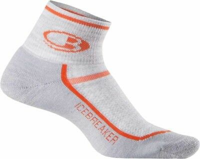 Icebreaker Men's Multi Sport Light Cushion Mini Merino Wool Socks - Blizzard/Hea