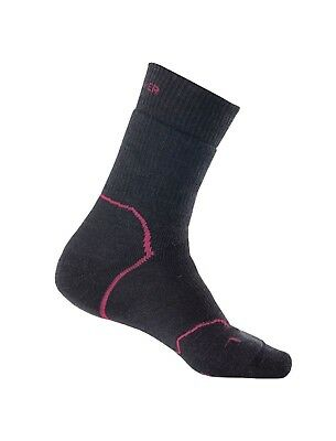 Icebreaker Women's Hike+ Crew Heavy Cushion Merino Socks - JTH/CRB/BLK