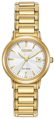 Citizen Eco-Drive Women's Silhouette Gold-Tone Bracelet 27mm Watch EW2372-51A