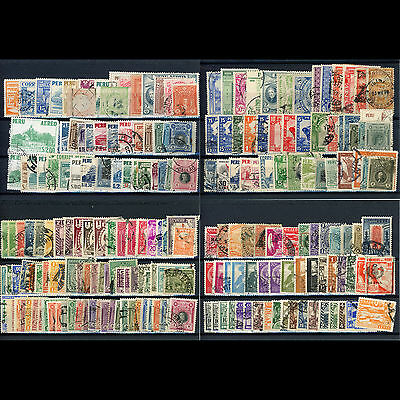 PERU Selection Approx 200 Values inc Shades. Unchecked. Condition Varies (AR387)
