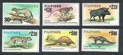 Philippines Wild Animals 6v SG#1515/20 MI#1281-86