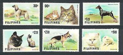 Philippines Cats and Dogs 6v SG#1539/44 MI#1306-11