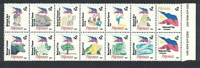 Philippines Eagle Bird Fish Flag Dance National Symbols Block of 14v SG#2781/94