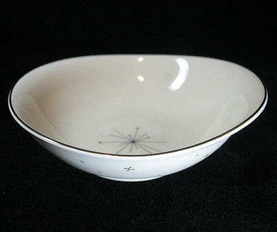 "Mid Century Modern Syracuse China Evening Star Retro 8"" Oval Vegetable Bowl"