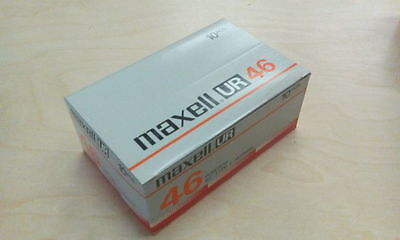Maxell UR 46 10 pack - NOS Cassette - Type I Tape - MINT WRAPPED