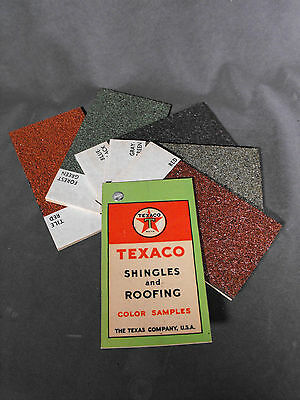 Vintage Texaco Shingles and Roofing Salesman Sample Color Samples Advertising