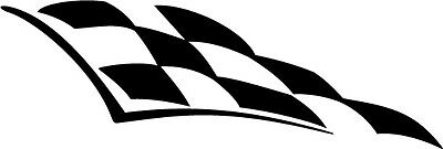 2 x chequered FLAG vinyl stickers graphics car decals fun racing Large