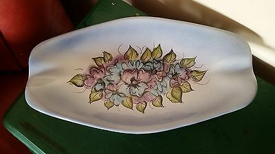 Vintage Signed California Art Pottery Madeline Originals Hand Painted Dish