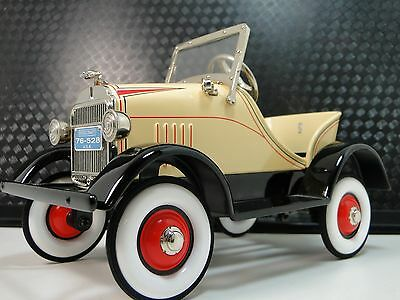 Classic Pedal Car 1920s Antique Ford A Hot T Rod Yellow Sport Midget Model