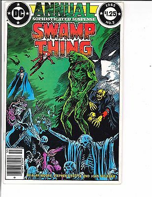 Swamp Thing Annual #2 Newsstand 2nd Series 1st Full Justice League Dark 1985 DC