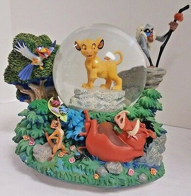 Disney Lion King Snowglobe Can't Wait to be King Simba Timon Zazu Rafiki Pumbaa